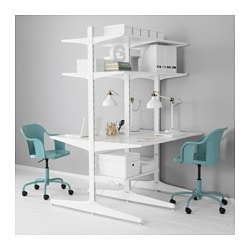 ALGOT post/foot/shelves, white Width: 127 cm Depth: 123 cm Height: 194 cm