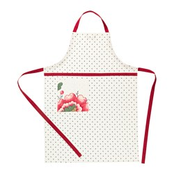 INBJUDANDE apron, dotted with flower Length: 97 cm