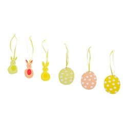 KACKLING hanging decoration, assorted designs Package quantity: 3 pack