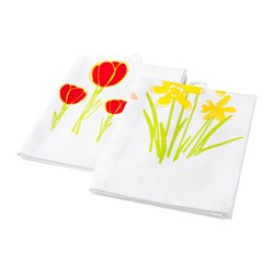 KACKLING tea towel, white Length: 70 cm Width: 50 cm Package quantity: 2 pieces
