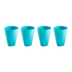 "BLOMSTERRIK glass, turquoise Height: 4 "" Volume: 10 oz Package quantity: 4 pack Height: 11 cm Volume: 30 cl Package quantity: 4 pack"