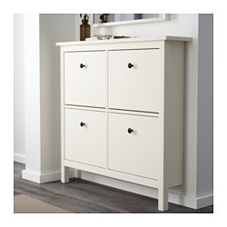 Hemnes Shoe Cabinet With 4 Compartments Ikea