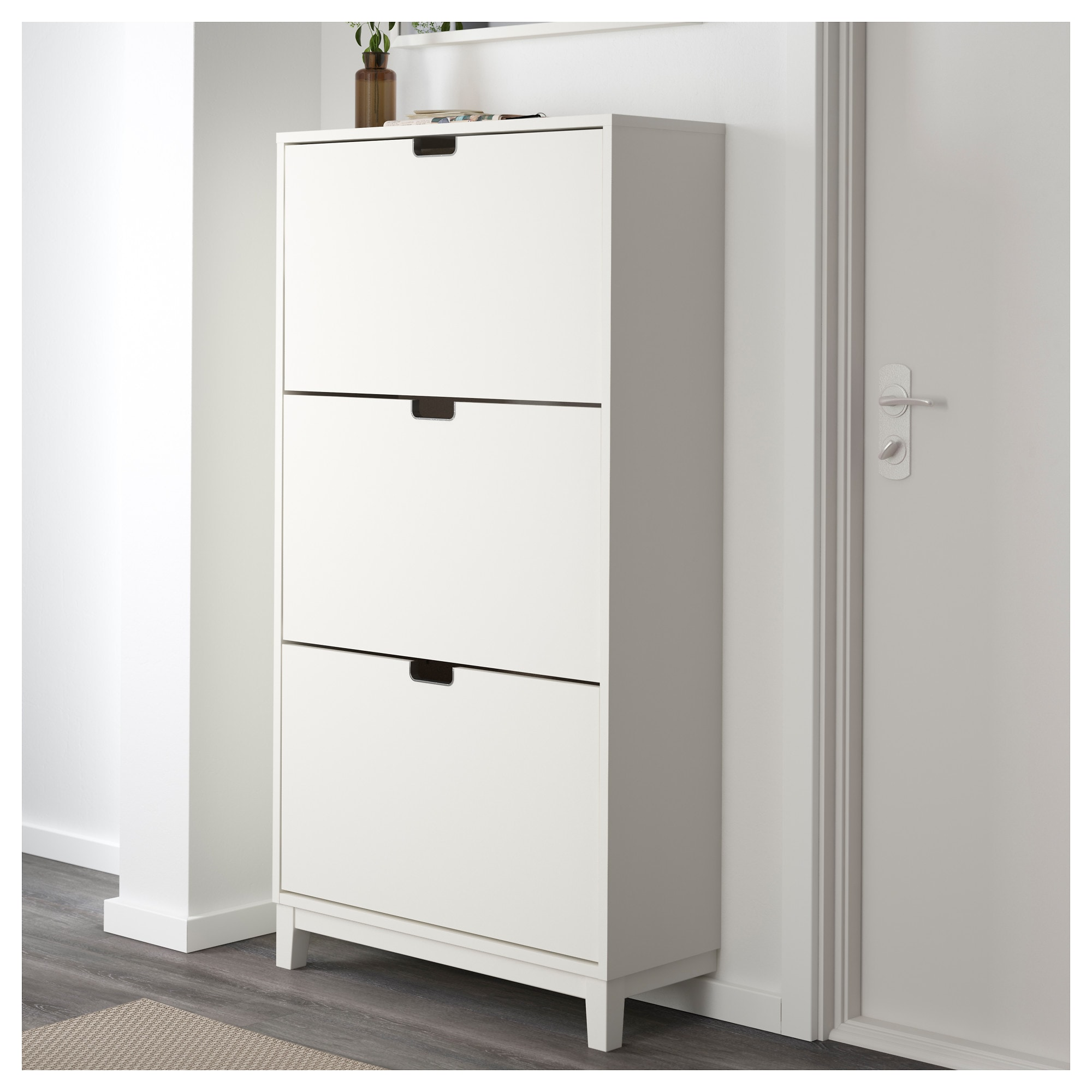 Design Ikea Shoe Storage shoe cabinet with 3 compartments white ikea
