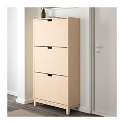 st ll schuhschrank 3 f cher birke 79x148 cm ikea. Black Bedroom Furniture Sets. Home Design Ideas