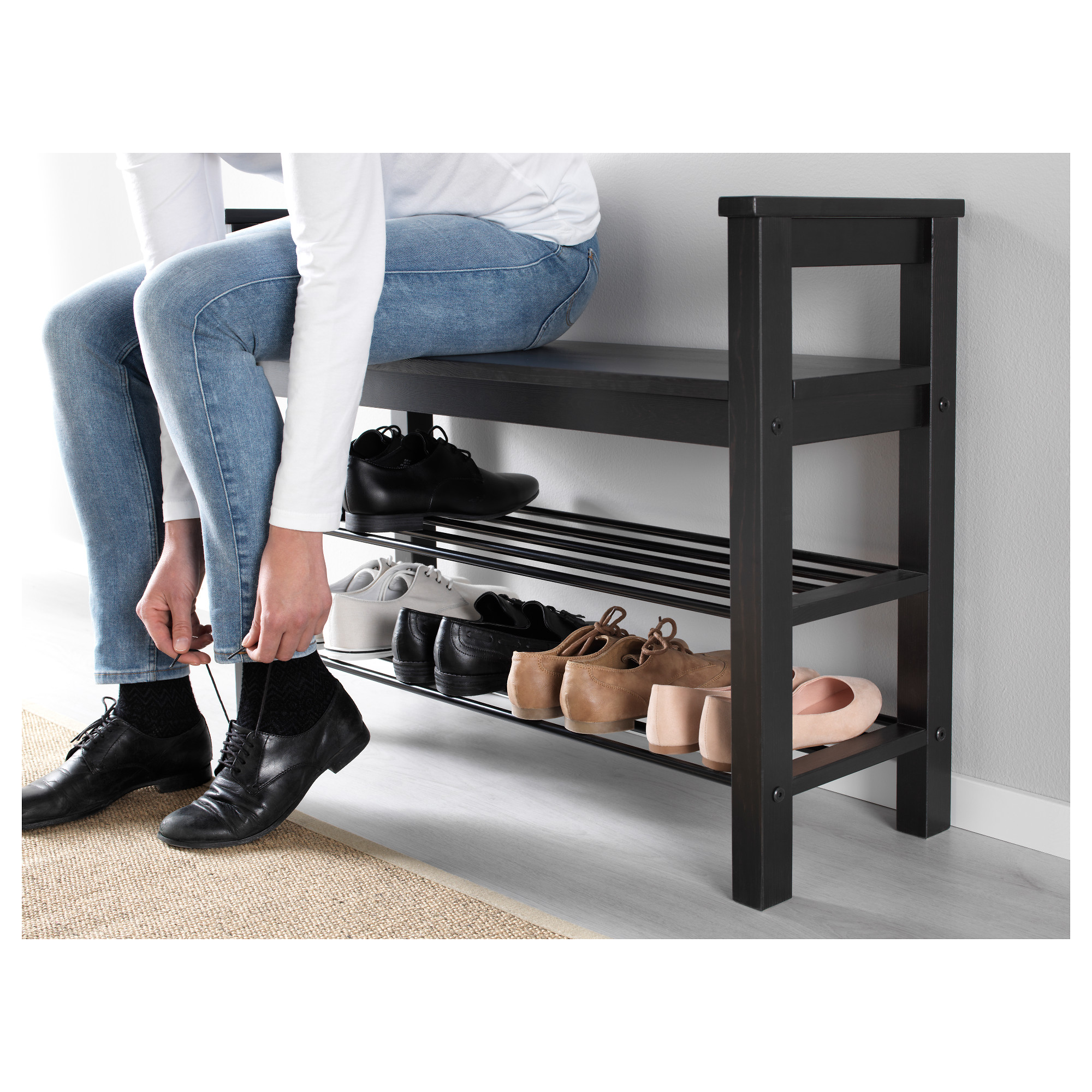 Attractive HEMNES Bench With Shoe Storage   Black Brown   IKEA