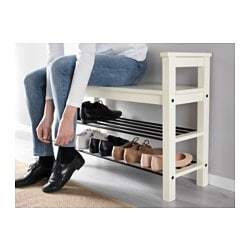 Wonderful HEMNES Bench With Shoe Storage, White
