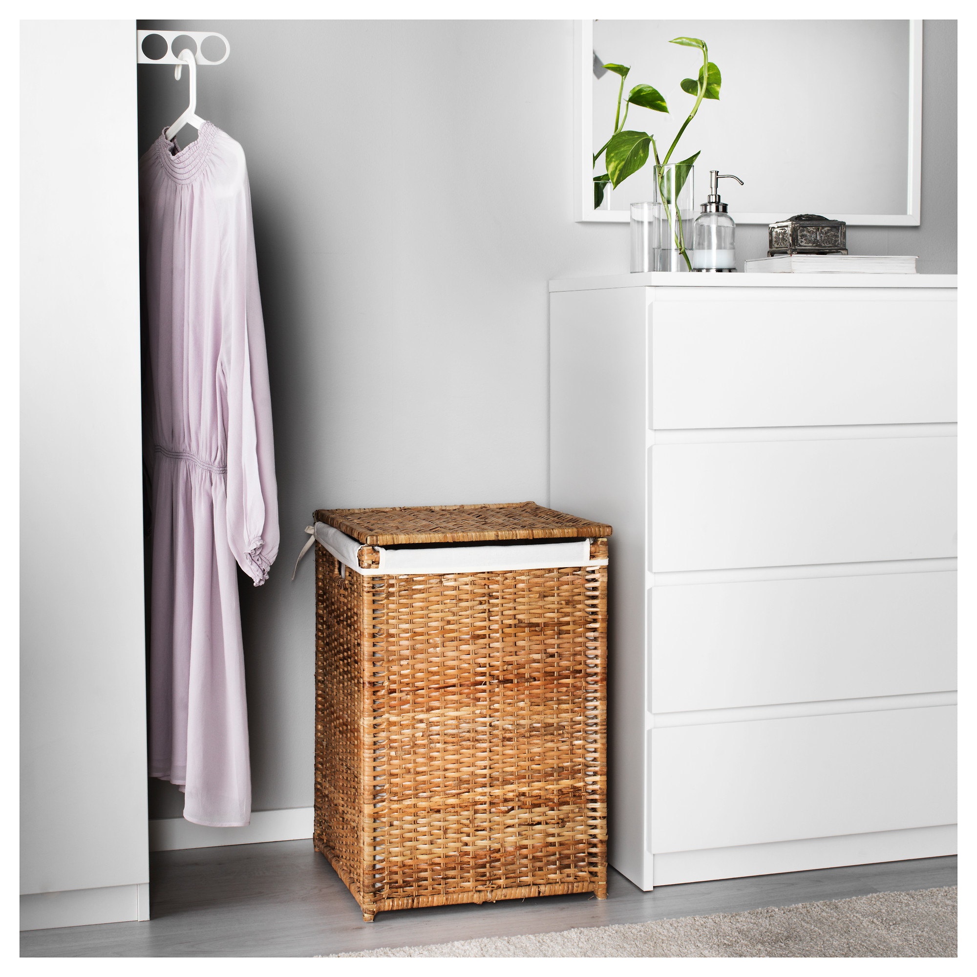 BRANS Laundry basket with lining IKEA