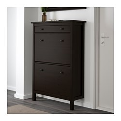 Good HEMNES Shoe Cabinet With 2 Compartments, Black Brown