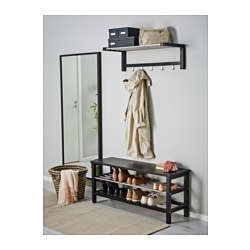 TJUSIG Bench with shoe storage black  sc 1 st  Ikea & TJUSIG Bench with shoe storage - black - IKEA