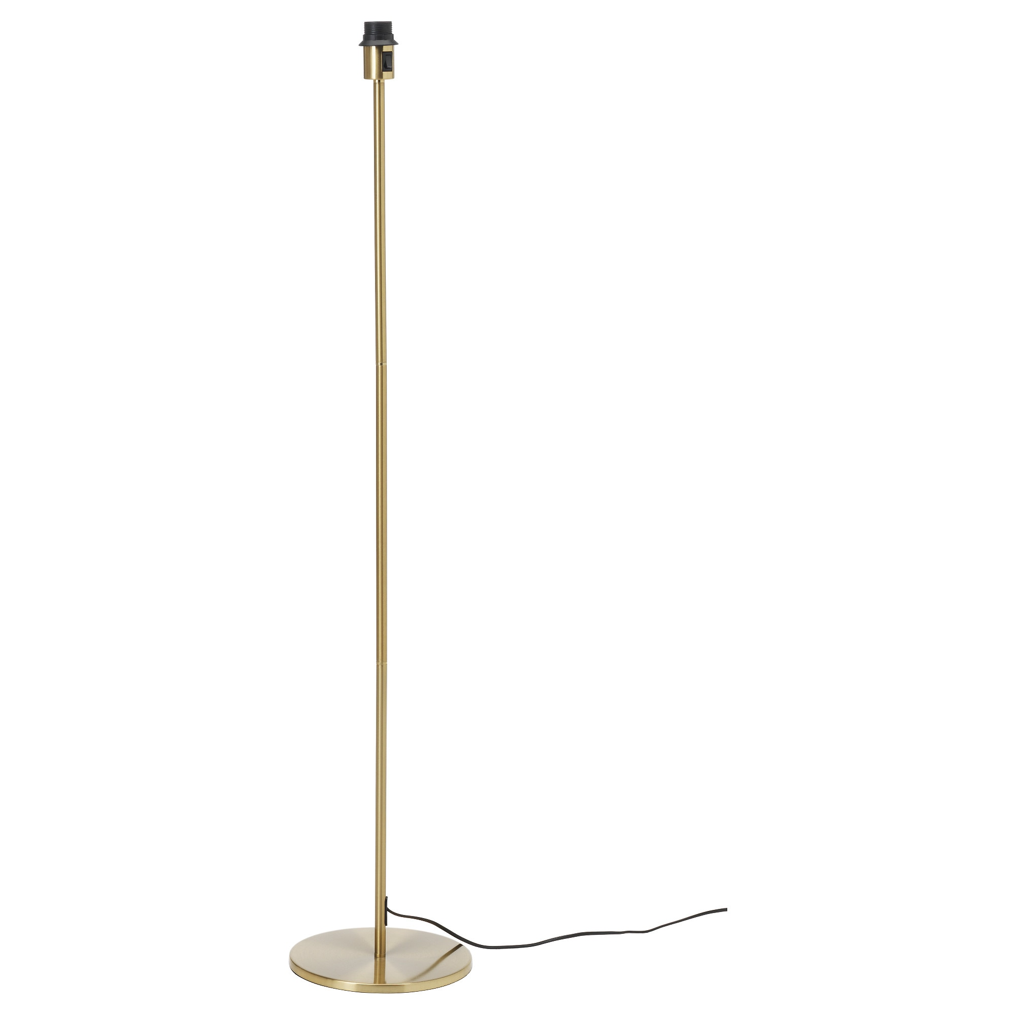 rodd floor lamp base with led bulb brass color height 52 base diameter cable lighting ikea