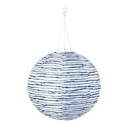 "SOLVINDEN LED solar-powered pendant lamp, globe blue/white Diameter: 18 "" Diameter: 45 cm"