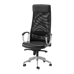 Exceptional MARKUS Swivel Chair, Black Glose Robust Black