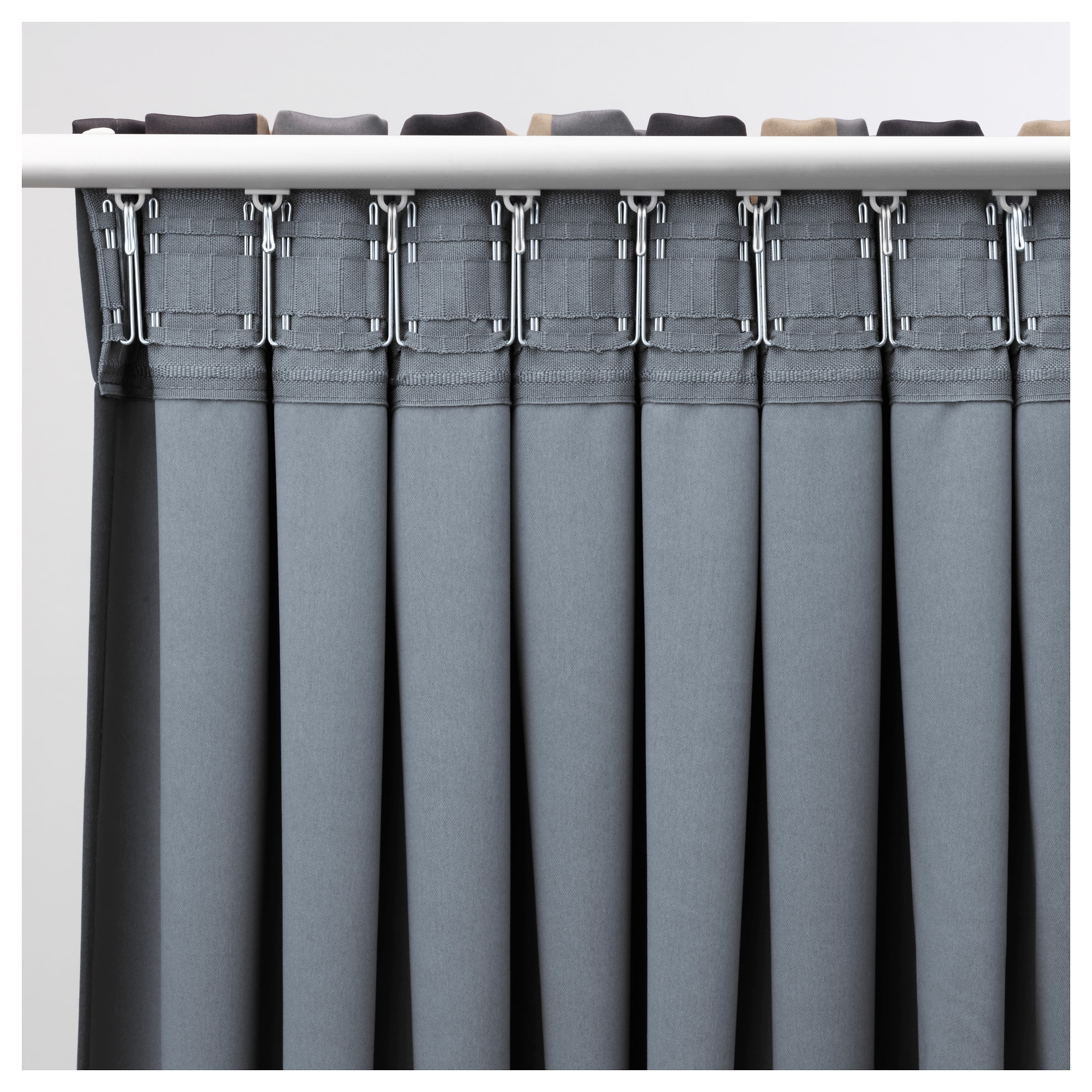 PRAKTLILJA Blackout curtains, 1 pair - IKEA