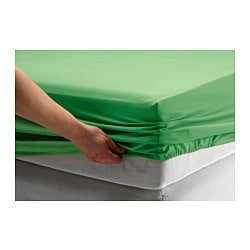 DVALA fitted sheet, green Thread count: 144 /inch² Length: 200 cm Width: 150 cm