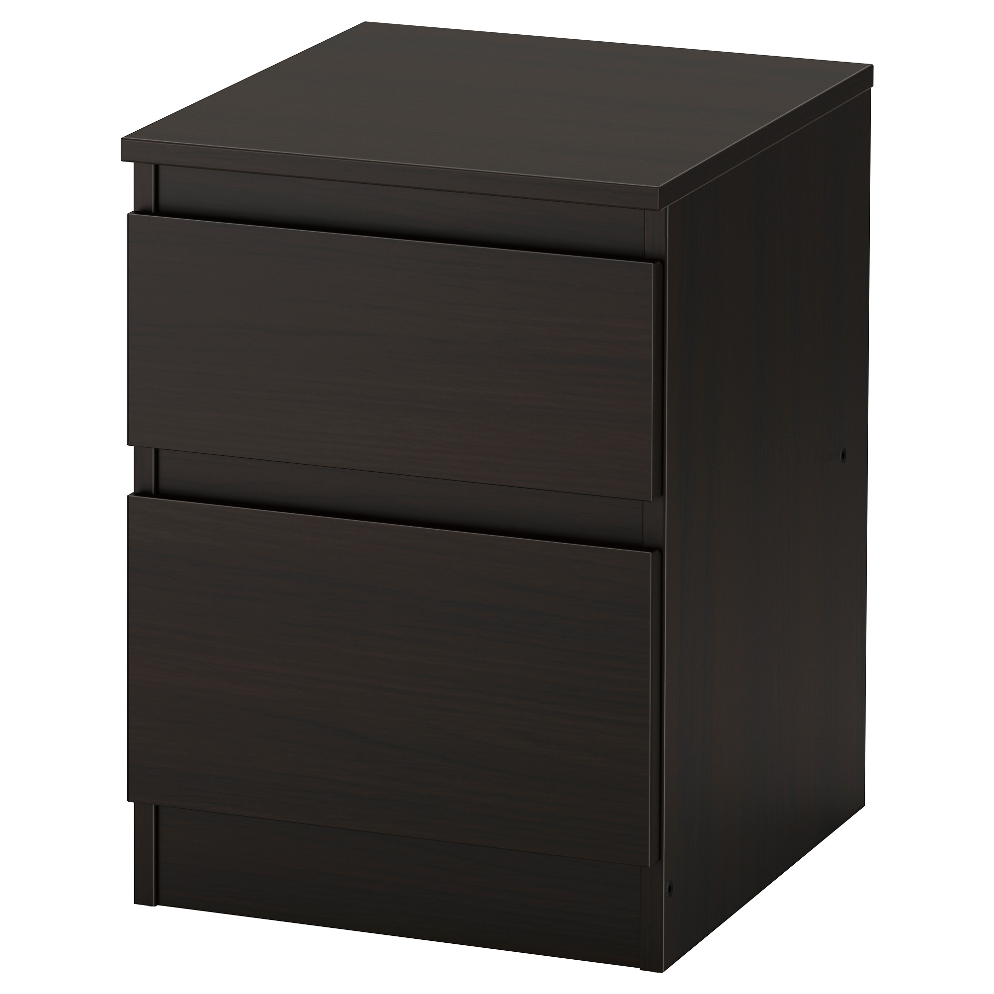 KULLEN 2 drawer chest  black brown Width  13 3 4  Nightstands   IKEA. Side Table For Bedroom. Home Design Ideas