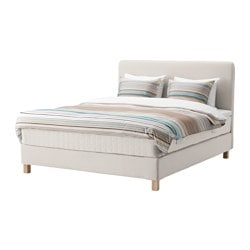 LAUVIK, Divan bed, Hafslo medium firm, beige