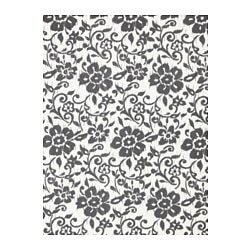 "KUNGSLILJA fabric, white/dark gray Weight: 0.82 oz/sq ft Width: 59 "" Pattern repeat: 36 "" Weight: 250 g/m² Width: 150 cm Pattern repeat: 92 cm"