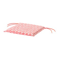 "NÄSTÖN chair pad, outdoor, light red Width: 15 3/4 "" Depth: 15 3/4 "" Thickness: 3/4 "" Width: 40 cm Depth: 40 cm Thickness: 2 cm"