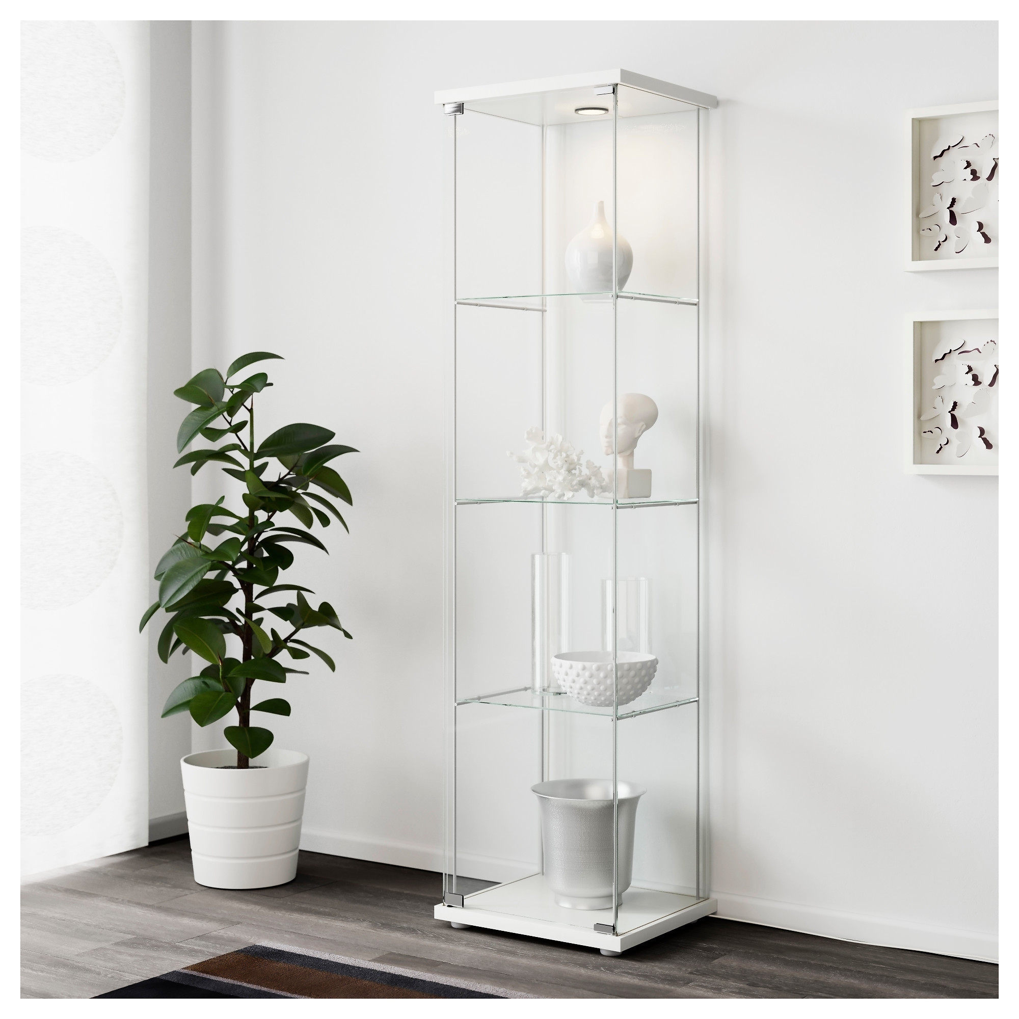 Superior DETOLF Glass Door Cabinet   White   IKEA