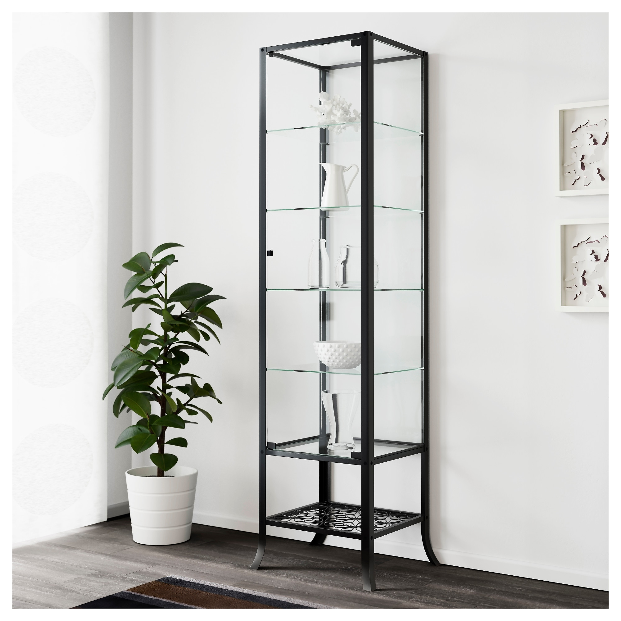 Metal Glass Display Cabinet Klingsbo Glass Door Cabinet Ikea