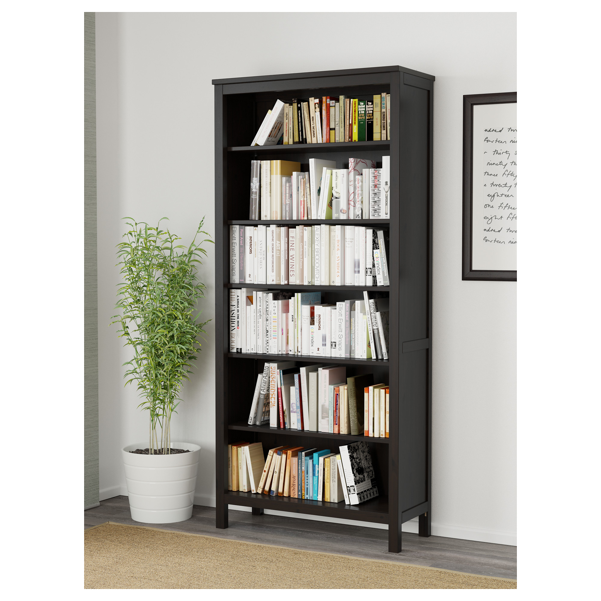 hemnes bookcase black brown ikea