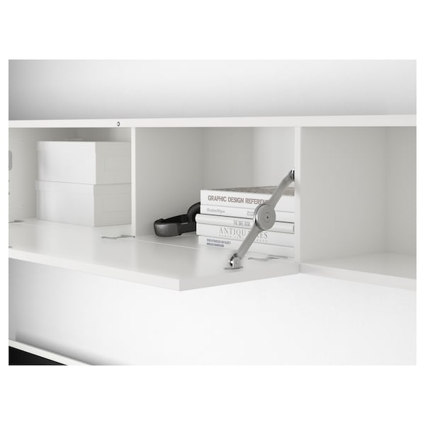 reputable site 9d3db a14f3 Wall shelf MOSTORP high-gloss white white