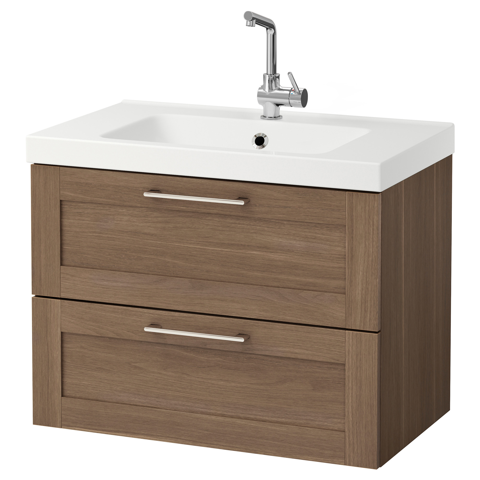 Morgon Odensvik Sink Cabinet With 2 Drawers High Gloss White Ikea