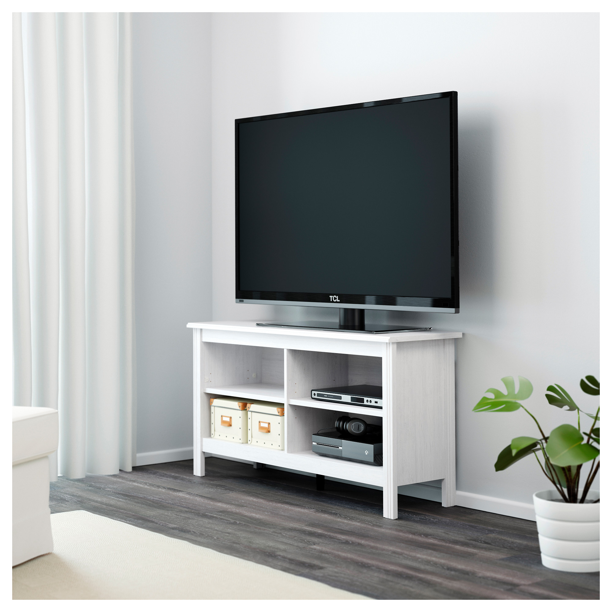 brusali tv unit white ikea - Media Stand Ikea