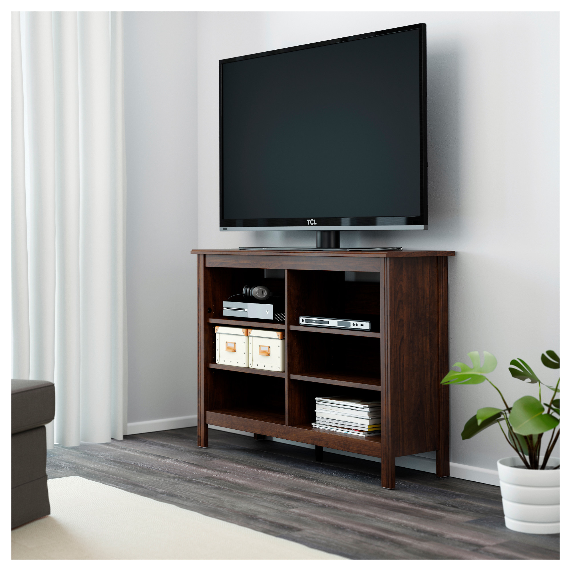 Brusali tv unit brown ikea