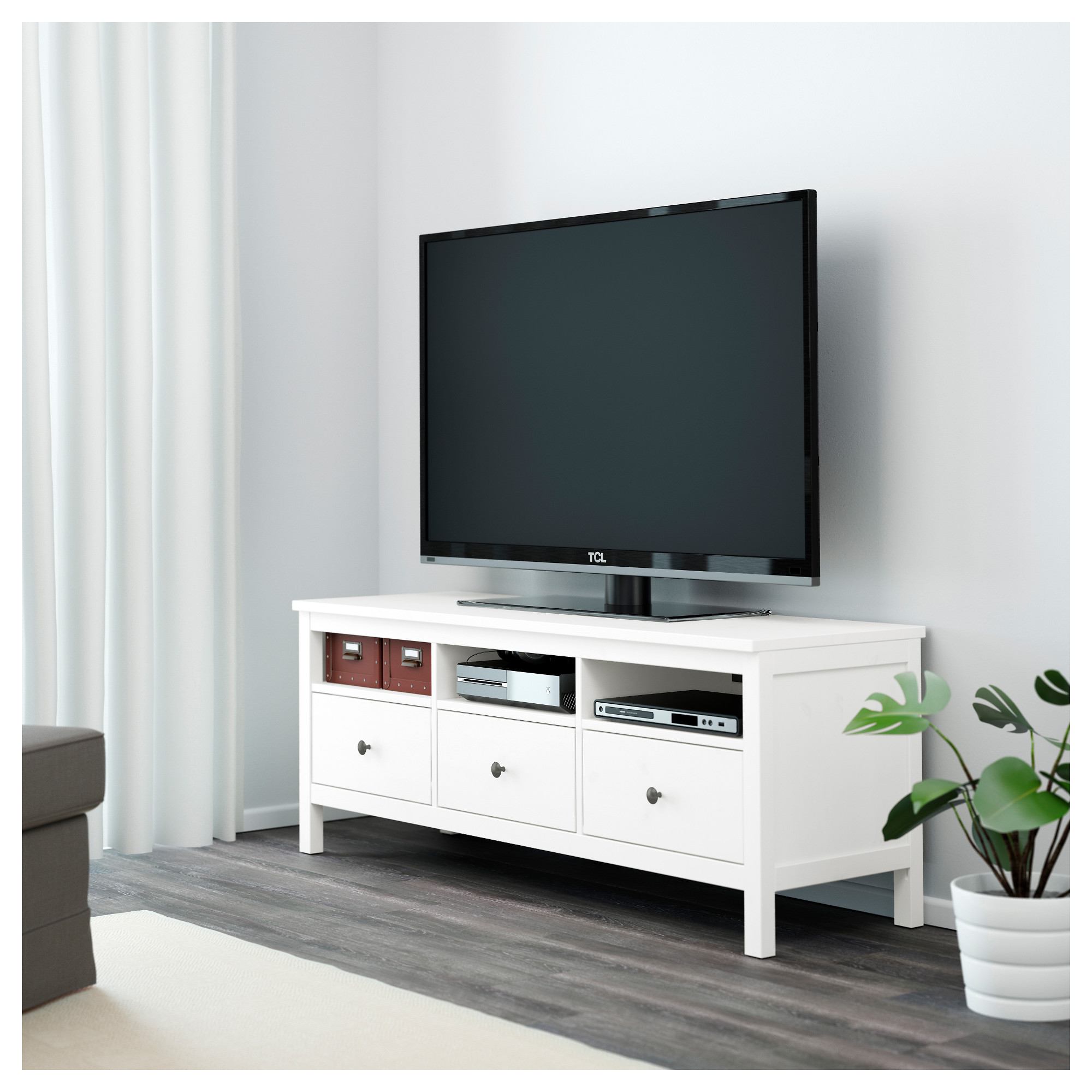HEMNES TV unit white stain IKEA