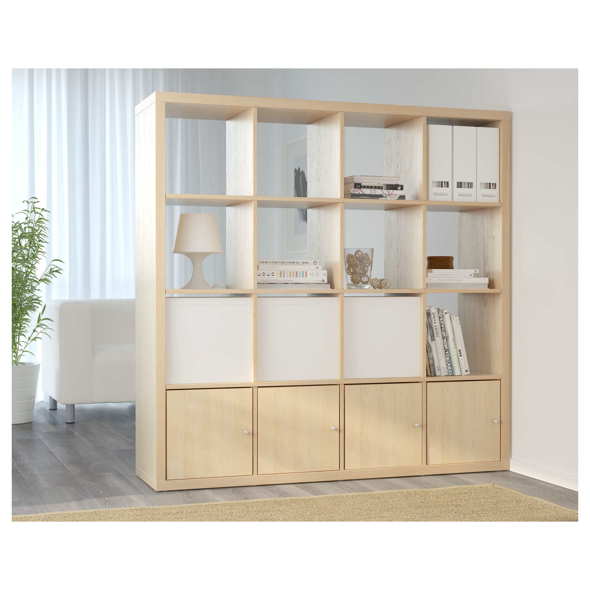 Living Room Shelving Unit kallax shelf unit - white - ikea