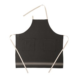 VARDAGEN apron, black Length: 92 cm