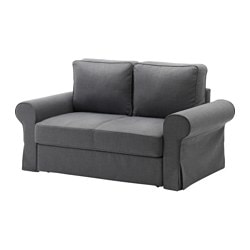BACKABRO two-seat sofa-bed, Nordvalla dark grey Width: 168 cm Depth: 88 cm Seat depth: 62 cm