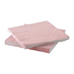 "INBJUDANDE paper napkin, square pattern Length: 13 "" Width: 13 "" Package quantity: 30 pack Length: 33 cm Width: 33 cm Package quantity: 30 pack"