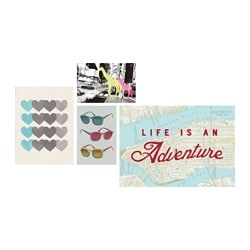 BILD art card, life is an adventure Package quantity: 4 pack