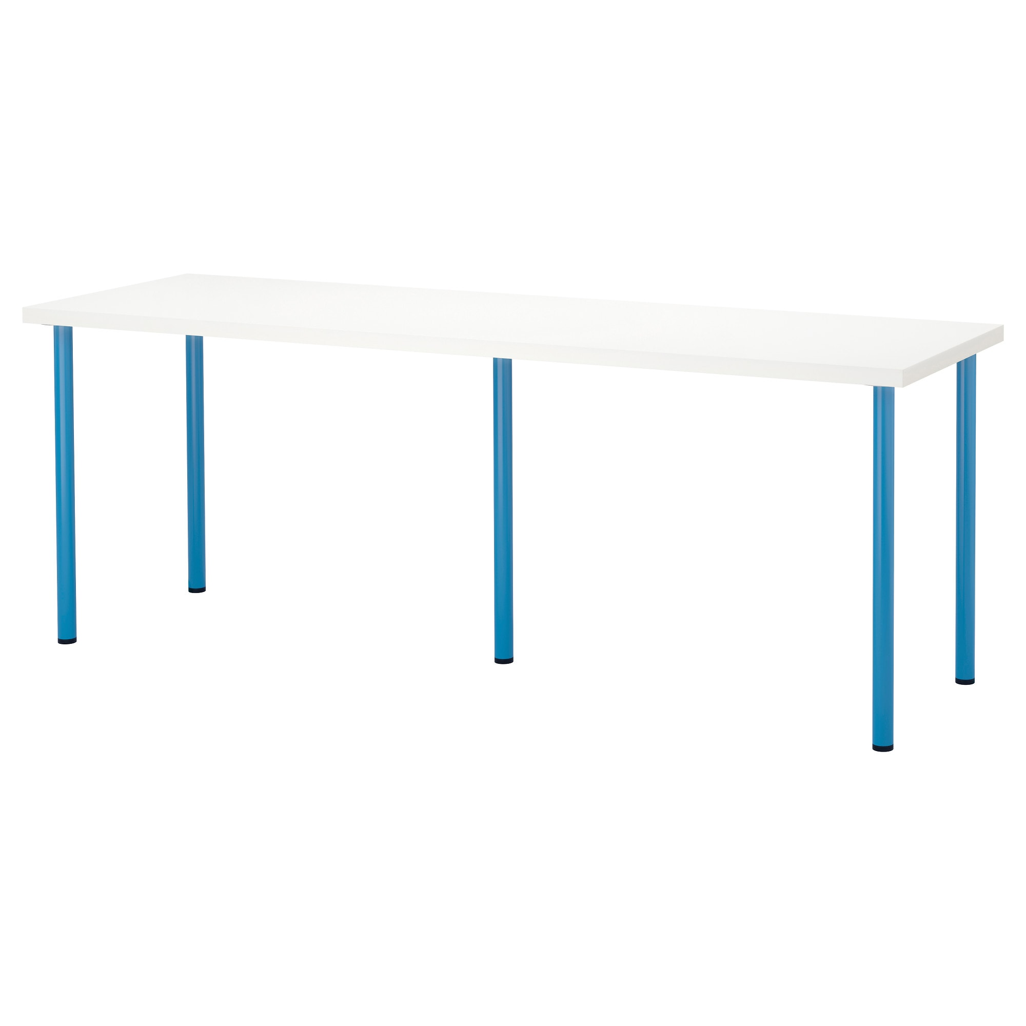 LINNMON ADILS Table whiteblue IKEA