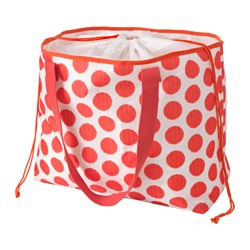 "SOMMAR 2016 beach bag, dotted, red Length: 18 "" Width: 8 ¾ "" Height: 15 "" Length: 46 cm Width: 22 cm Height: 38 cm"
