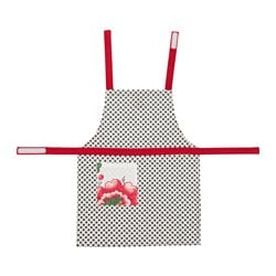 INBJUDANDE children's apron, dotted with flower Length: 57 cm