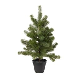 FEJKA artificial potted plant, Christmas tree Diameter of plant pot: 12 cm Height of plant: 54 cm