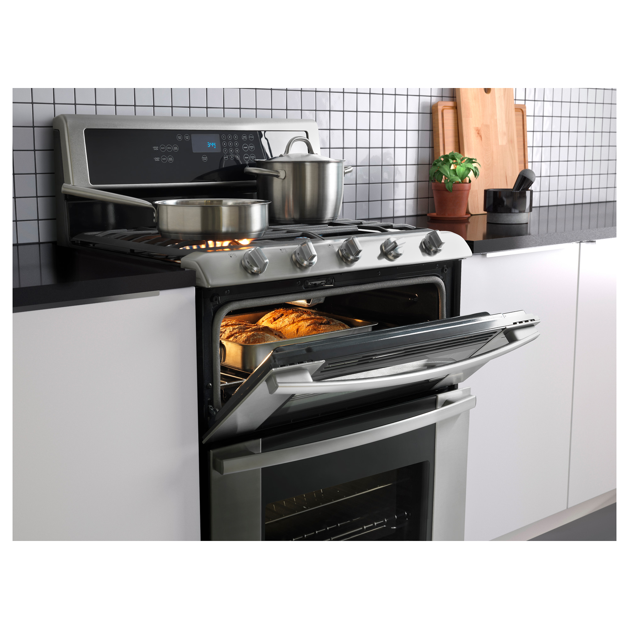 Gas Wall Ovens Reviews Betrodd Range W Double Oven And Gas Cooktop Ikea