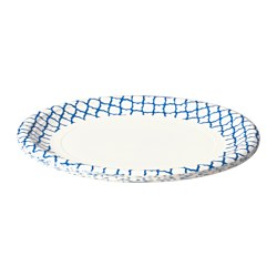 SOMMAR 2016 paper plate, white, blue Diameter: 26 cm Package quantity: 10 pack
