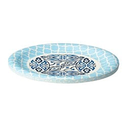 SOMMAR 2016 paper side plate, blue Diameter: 18.5 cm Package quantity: 10 pack