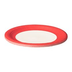 SOMMAR 2016 paper side plate, red, white Diameter: 18.5 cm Package quantity: 10 pack