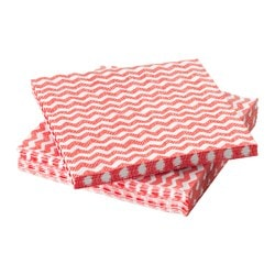 "SOMMAR 2016 paper napkin, white, red Length: 9 ½ "" Width: 9 ½ "" Package quantity: 30 pack Length: 24 cm Width: 24 cm Package quantity: 30 pack"