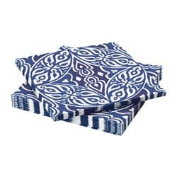 "SOMMAR 2016 paper napkin, blue Length: 13 "" Width: 13 "" Package quantity: 30 pack Length: 33 cm Width: 33 cm Package quantity: 30 pack"