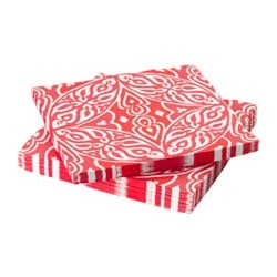 SOMMAR 2016 paper napkin, red Length: 33 cm Width: 33 cm Package quantity: 30 pieces