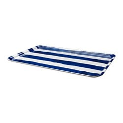 SOMMAR 2016 tray, striped white, blue Length: 38 cm Width: 58 cm