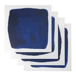 SOMMAR 2016 place mat, white, blue Length: 37 cm Width: 37 cm Package quantity: 4 pieces