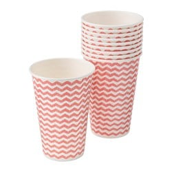 SOMMAR 2016 disposable mug, white, red Volume: 35 cl Package quantity: 10 pieces