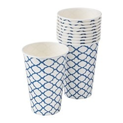SOMMAR 2016 disposable mug, blue, white Volume: 35 cl Package quantity: 10 pieces